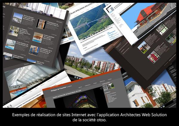 Pêle mêle réalisation architectes web solution